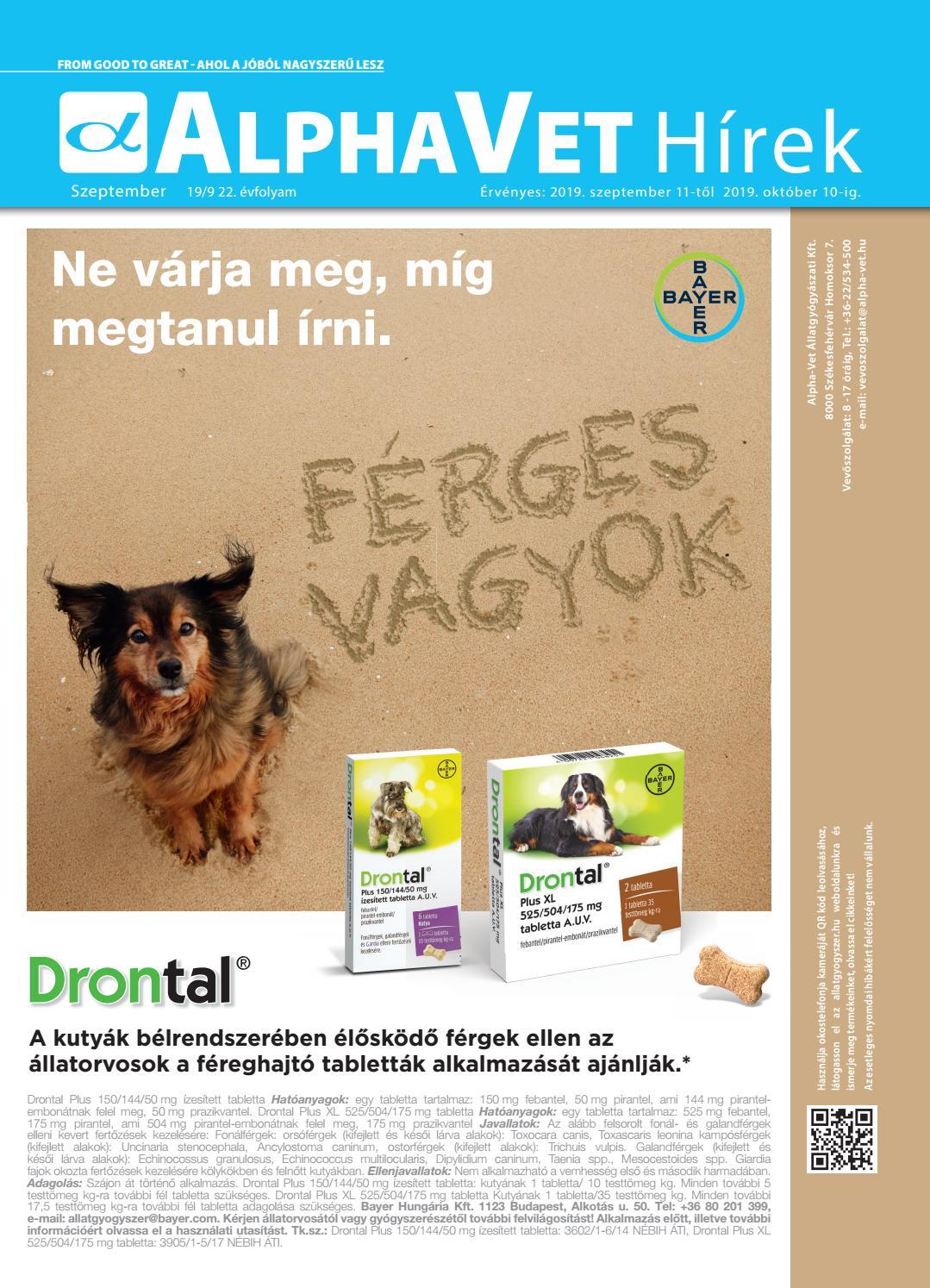 széles spektrumú féreg elleni tabletta)