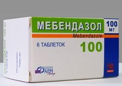mebendazol tabletta