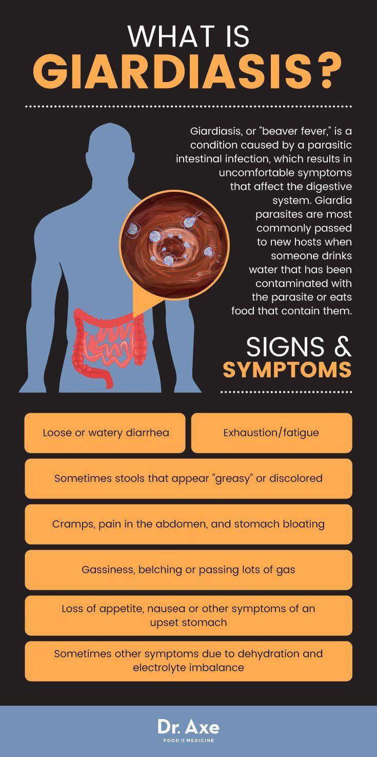 chronic giardia symptoms in humans