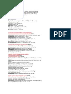 parazitaellenes kezelési rendszerek)