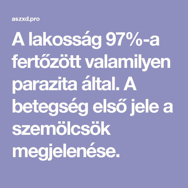 parazita betegseg jelei)