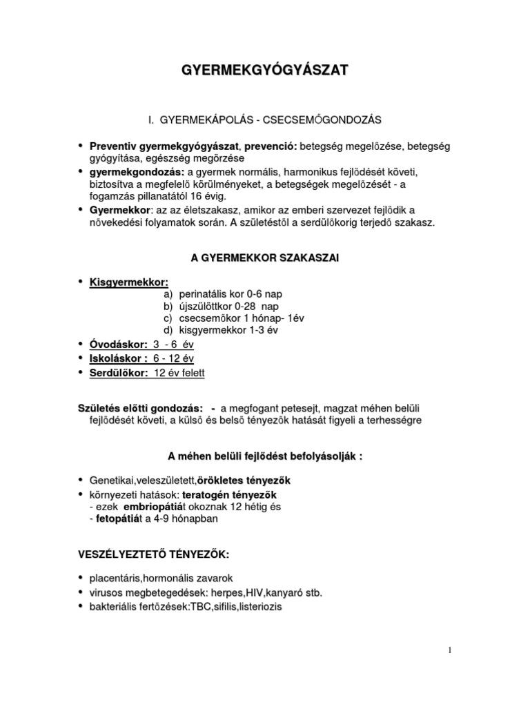 gyermekek és felnőttek helminthiasis kezelése)