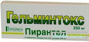anthelmintikum az enterobiasis kezelésére