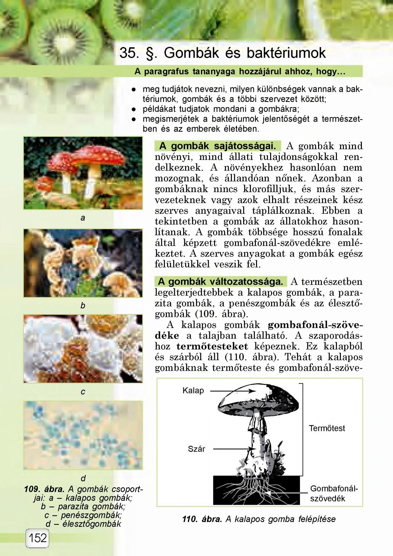 gomba parazita lista