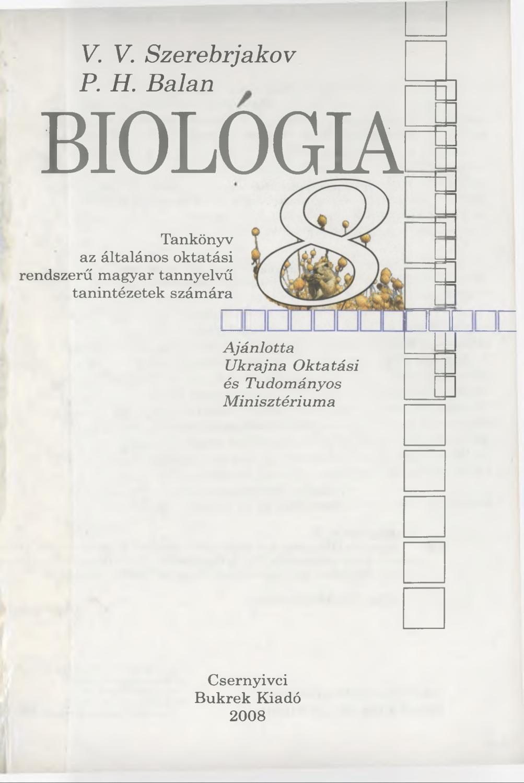 Betekintés: Biológia tételek, 2004