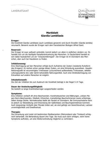 Behandlung von Giardia ohne Gallenblase