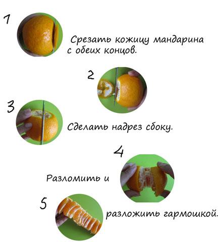 Mennyire könnyű kemény mandarint hámozni. Hogyan lehet meghámozni a citrushéjat
