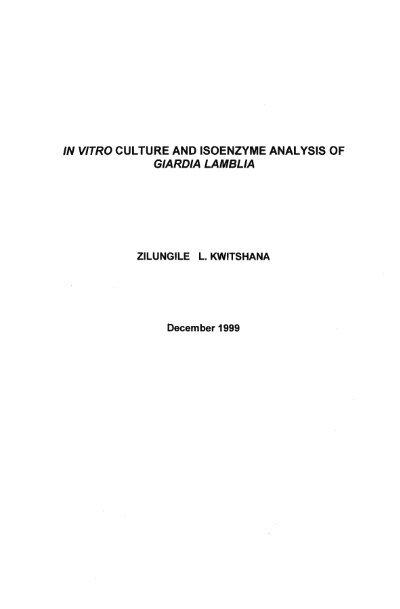 giardiasis toxin production)